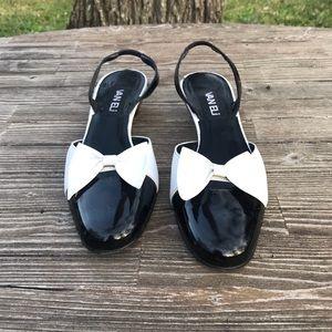 🌵Van Eli White & Black Patten Leather Shoes SZ 8N